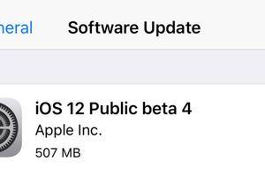 Apple chính thức tung ra iOS 12 public beta 4