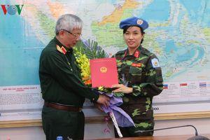 Nữ sĩ quan VN đầu tiên tham gia lực lượng giữ gìn hòa bình LHQ