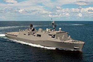 Ngạc nhiên tàu vận tải đổ bộ mang vũ khí laser của Mỹ
