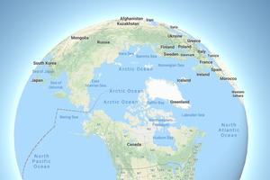 Google Maps thêm chế độ hiển thị bản đồ Trái đất hình cầu