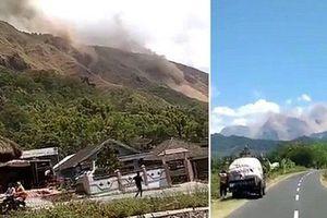 Clip: Kinh hoàng đất lở do động đất ở Indonesia