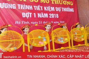 Agribank Hà Tĩnh quay số mở thưởng đợt 1 năm 2018