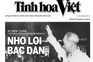 Tìm đọc Tinh hoa Việt số 82, phát hành ngày 25/8/2018