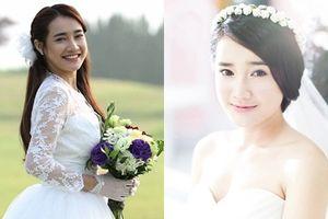 Nhã Phương diện váy cưới xinh lung linh trước khi lên xe hoa với Trường Giang