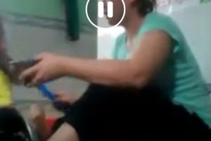 Lại xuất hiện clip bảo mẫu bạo hành trẻ nhỏ ở An Giang