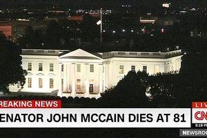 Nhà Trắng treo cờ rủ, dân Mỹ tưởng nhớ ông John McCain