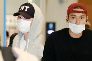 Lee Jong Suk và Choi Si Won (Super Junior) mặc kín mít, mệt mỏi trở về Hàn Quốc sau lịch trình nước ngoài