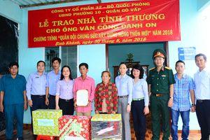 Công ty Cổ phần 32 trao tặng nhà tình thương tại huyện Cần Giờ, TP Hồ Chí Minh