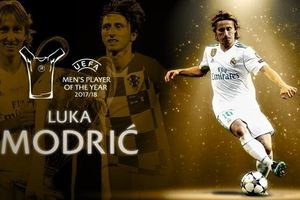 'Vượt mặt' Ronaldo, Modric giành danh hiệu cầu thủ hay nhất mùa giải 2017/18