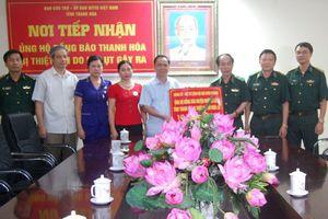 Bộ Tư lệnh Bộ đội Biên phòng ủng hộ người dân huyện Mường Lát bị thiệt hại do mưa lũ