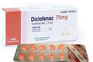 Lạm dụng thuốc giảm đau Diclofenac có thể gây suy tim, đột quỵ