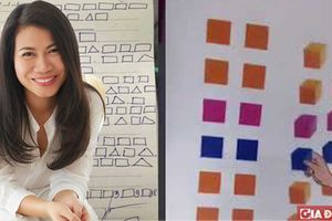 Nhà báo Thu Hà: Chữ ô vuông là một cách học, giống như dùng que tính để học cộng, trừ