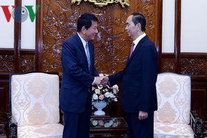 Chủ tịch nước Trần Đại Quang tiếp Đại sứ đặc biệt Việt-Nhật