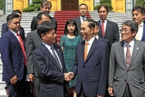 Chủ tịch nước Trần Ðại Quang tiếp Cố vấn đặc biệt Tập đoàn Mainichi (Nhật Bản)