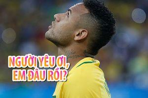 Neymar tìm người yêu ngay cả khi đang thi đấu cho đội tuyển Brazil