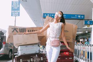 Khả Trang mang tận 10 vali lên đường thi Siêu mẫu quốc tế 2018