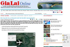 Vẫn đang điều tra vụ công dân Gia Lai thông tin điểm rơi MH370