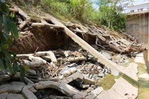 Nghệ An: Sạt lở nghiêm trọng cách chân đập thủy điện Nậm Mô khoảng 50m