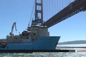 Triển khai thiết bị thu dọn rác thải nhựa trôi nổi trên biển