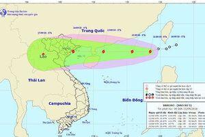 Áp thấp nhiệt đới mạnh lên thành bão số 5, tiến vào Biển Đông