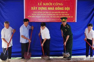 Khởi công xây dựng nhà đồng đội cho gia đình Đại úy Nguyễn Đình Tài
