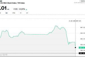Áp lực chốt lời nhóm ngân hàng, Vn-Index đóng cửa mức 987 điểm