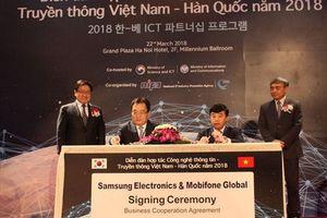 MobiFone và Samsung ký thỏa thuận hợp tác tăng cường mạng 5G