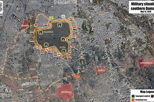 Quân đội Syria đánh thốc vào cứ địa IS trong nồi hầm Yarmouk