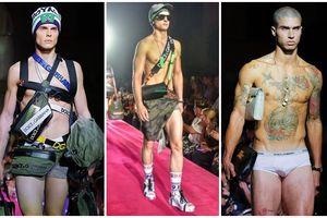 Thon thót tim trước những màn 'mát mẻ' của mẫu nam tại Dolce&Gabbana Men's Fashion Show
