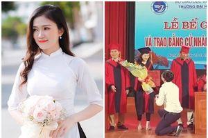 Nữ sinh hotgirl Đại học Vinh được thầy giáo quỳ cầu hôn khi tốt nghiệp là ai?