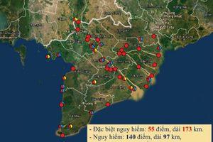 Tình trạng sạt lở bờ biển vùng ĐBSCL ngày càng nghiêm trọng