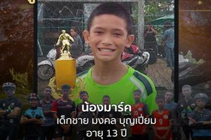 Cầu thủ nhí Thái Lan đầu tiên được đưa khỏi hang là ai?