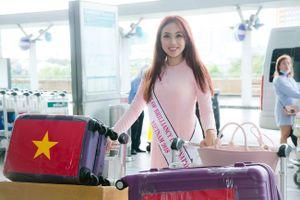 Miko Lan Trinh lên đường sang Đài Loan thi Hoa hậu Sắc đẹp Quốc tế