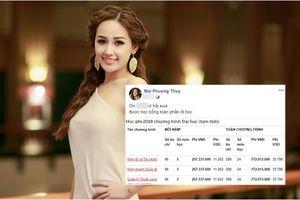 Tiết lộ bất ngờ về thời sinh viên của Hoa hậu Mai Phương Thúy khi học ở trường ĐH 'con nhà giàu' khiến dân mạng nể phục