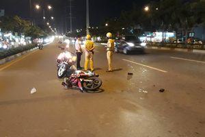 Chạy xe vào đường cấm, nam thanh niên tông CSGT trọng thương