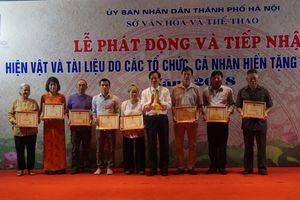 Bảo tàng Hà Nội tiếp nhận nhiều hiện vật có giá trị