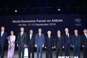 Hình ảnh phiên khai mạc toàn thể Hội nghị WEF ASEAN 2018