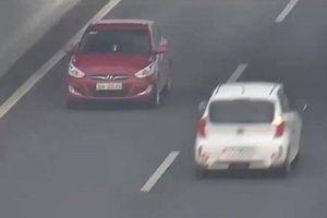Phạt 7,5 triệu đồng nữ lái xe ngược chiều trên cao tốc
