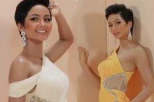 Clip Hoa hậu H'Hen Niê khoe dáng đẹp tựa nữ thần với đầm xẻ táo bạo