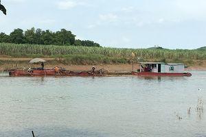 Bắt giữ 4 tàu khai thác cát trái phép ở Vĩnh Lộc - Thanh Hóa