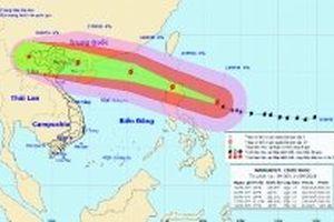 Siêu bão Mangkhut sẽ gây mưa lớn ở Bắc Bộ và Bắc Trung Bộ