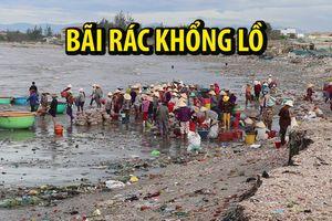 Dọn bãi rác khổng lồ trên bờ biển Bình Thuận