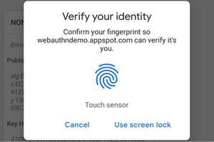 Chrome sử dụng xác thực vân tay trên Android để tăng cường bảo mật
