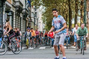 Những hình ảnh ấn tượng trong Ngày không xe hơi ở Paris, Brussels