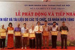 Bảo tàng Hà Nội tiếp nhận gần 1.000 hiện vật quý