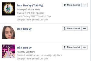 Tân Hoa hậu Trần Tiểu Vy bị giả mạo hàng loạt facebook