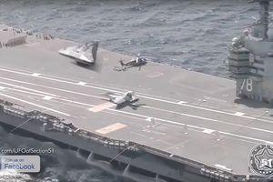 Cư dân mạng 'dậy sóng' vì hình ảnh 'UFO' đậu trên mẫu hạm Mỹ