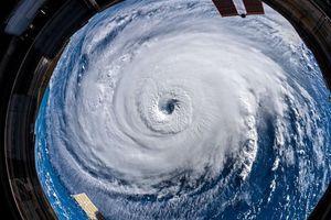 Siêu bão Florence mạnh nhất 70 năm đổ bộ vào Mỹ nhìn từ Trạm Vũ trụ Quốc tế