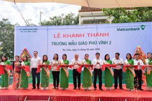Khánh thành trường mẫu giáo tại An Giang do Vietcombank tài trợ