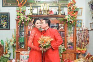 Hoa hậu Đại dương Đặng Thu Thảo cười mãn nguyện trong lễ đính hôn